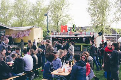 Een goeie sfeer met Fotodoos op de Food Truck Festival in Amsterdam