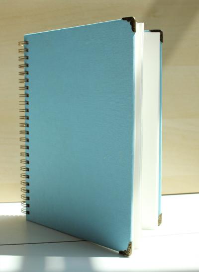 Blauwe photobooth gastenboek van Fotodoos